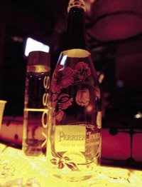 A PERRIER JOUET CHAMPAGNE BOTTLE AT NECTAR PHOTOGRAPH BY KATHERINE BISH