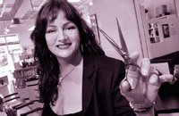 Denise Edgar, owner of St. Louis' acclaimed D-Zine Hair and Art Studio.