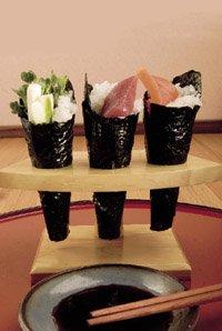 cone sushi rolls