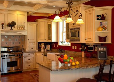 mesmerizing red white kitchen cabinets | Pitch-Perfect Kitchens - St. Louis Magazine
