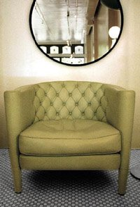 Chair and mirror in a loft