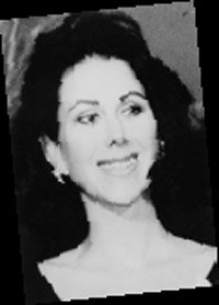 a black-and-white photograph of Carolyne Roehm