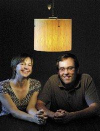 the Scheus, a couple who design furniture