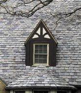 a slate roof
