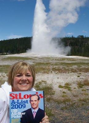 Amanda Christe at Yellowstone National Park