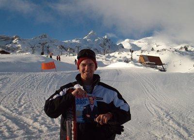 Andrew Bingham at Mount Ruapehu in New Zealand
