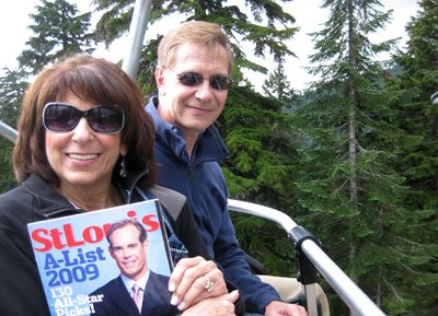 Barbara and Stuart Radloff at Grouse Mountain in Vancouver, British Columbia
