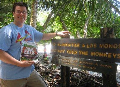 Brian Lunt in Manuel Antonio Rainforest in Costa Rica