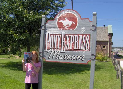 Angela Truesdale at the Pony Express Museum in St. Joseph, Missouri