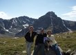 Erica, Don, and Barbara Hockenbury at Mount of the Holy Cross in Minturn, Colorado