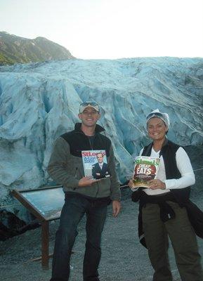 Matt and Erin Trola at Exit Glacier in Kenai Fjords National Park in Seward, Alaska