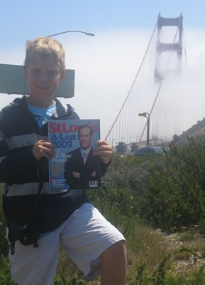 Ethan Wetter at the Golden Gate Bridge in San Francisco, California