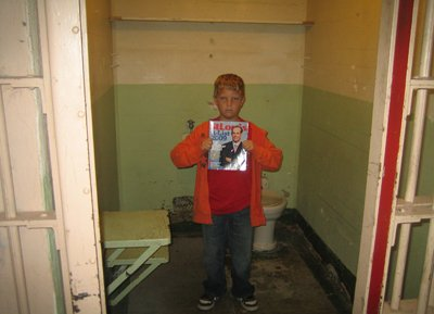 Ethan Wetter at Alcatraz Prison in San Francisco Bay