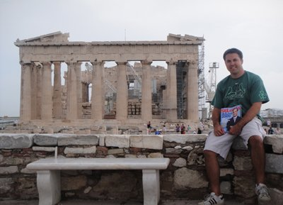 Garrett Reuter at Parthenon at the Acropolis in Athens, Greece