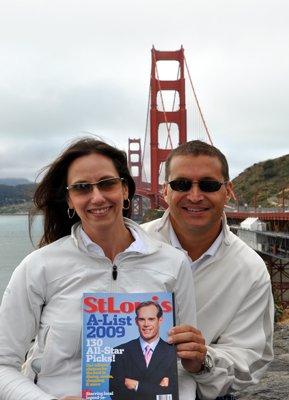Heather Lyons and Greg Finkey at Golden Gate Bridge in San Francisco, California