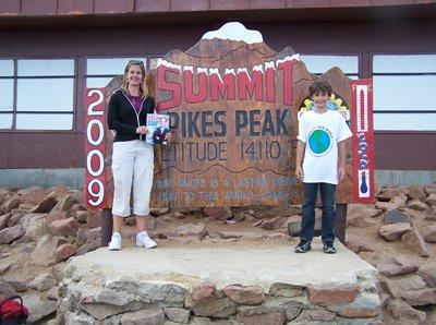 Karen and Alex Whitesides at Pikes Peak in Colorado Springs, Colorado