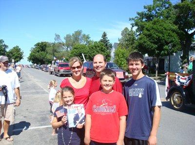 Maggie, Beth, Mark, Eric& Ryan Caselton in Frankfort, Michigan