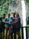 Sam, Monica, Ben, Pat Waddle at La Fortuna Waterfall  in Costa Rica
