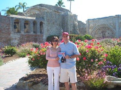 Dr. Hongbo Liu & Scot Fague at Mission San Juan Juis Capistrano in California