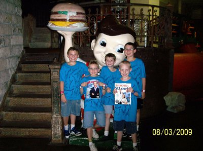 Dalton, Fisher, Aaron, Ethan, Kaleb at the City Museum in St. Louis