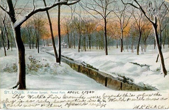 Photo Friday: A Penny Postcard View of Forest Park in Winter