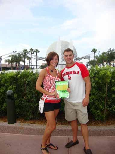Jessica Brosamer-Senger and Aaron Randolph, Epcot, Disney World, Orlando, Florida