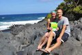 "Mike and Leigh-Anne Brueggenjohann, End of ""Road to Hana"", Maui, Hawaii"