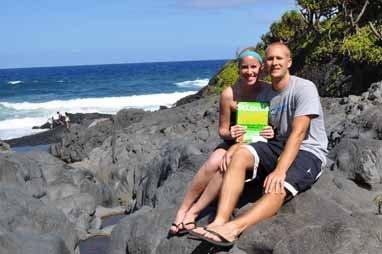"""Mike and Leigh-Anne Brueggenjohann, End of """"Road to Hana"""", Maui, Hawaii"""