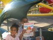 Jaylee and Jameson Chaney, Helicopter ride in motion at Cedar Point Amusement Park in Sandusky, Ohio