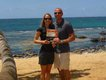 Alisa Gruner and Daniel Cuneo, Outside of Mama's Fish House in Paia, Hawaii