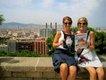 Kait Fischer and Allison Eckert, Montjuic, overlooking the city of Barcelona, Spain