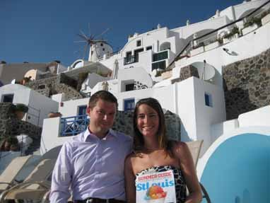 Ryan and Katie Furniss, Santorini, Greece