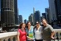 Claire, Genevieve, Susan and Mike Greathouse, Chicago Riverwalk, Chicago, Illinois