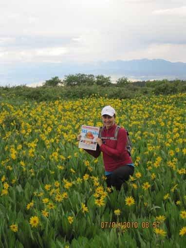 Sarah Gwillim Mansholt, Uncompahgre National Forest, Colorado during hut-hut mountain biking trip