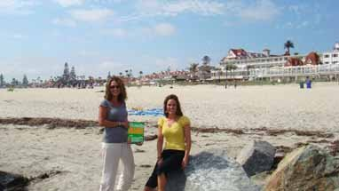 Judy and Meagan Arnold, Del Coronado Hotel in San Diego, California
