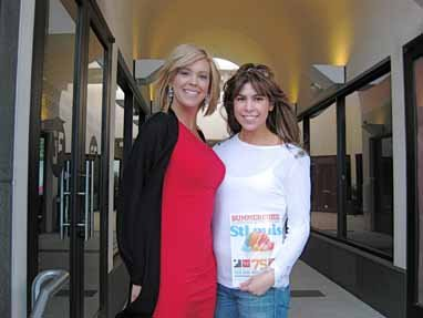 Jessica Radloff and Kate Gosselin, Beverly Hills, California