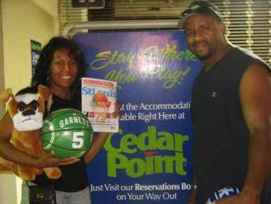 Robbie and Raymond Chaney, Cedar Point Amusement Park, Sandusky, Ohio