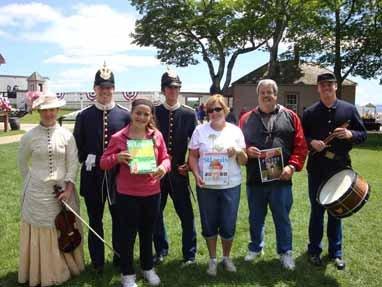 Sylvia, Paula, and Bill Santen, Fort Mackinac, Mackinac Island