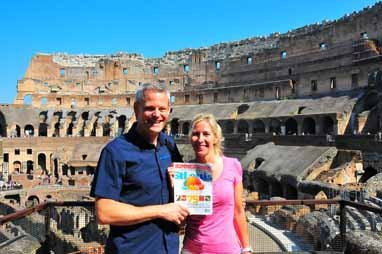 Jenifer and Mike Bedesky, Colosseum, Rome, Italy