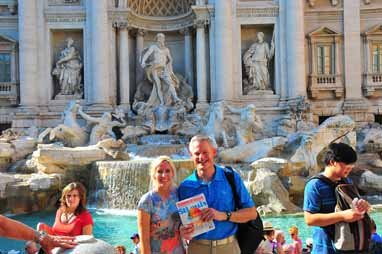 Jenifer and Mike Bedesky, Fountain of Trevi, Rome, Italy