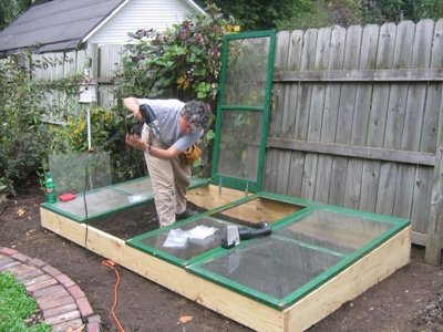 build it yourself cold frame in my back yard