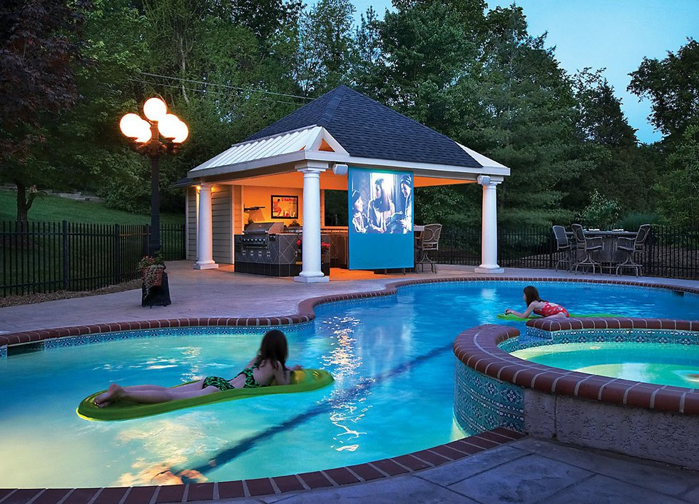 Outdoor spaces for Outdoor pool house