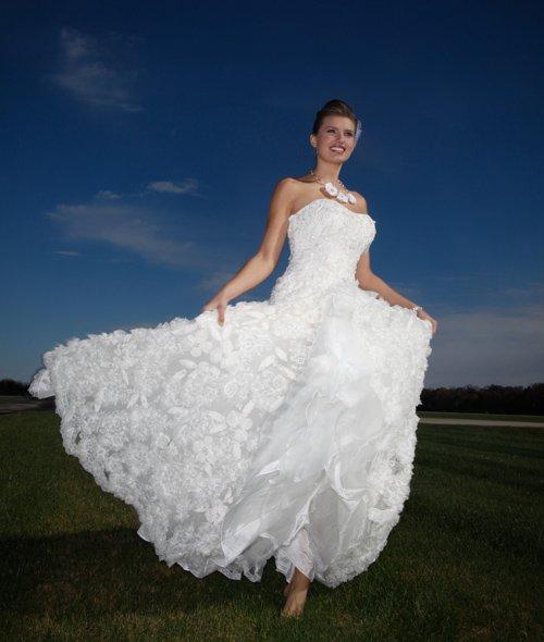 Pronovias gown, $2,200. Amore Today's Bridal N Fashions, 173 Long, Ste. 104, 636-536-0007. Meg Jewelry necklace, $338. Simply Elegant Bridal, 1004 Olive, 314-241-8201, simplyelegantbridalstl.com