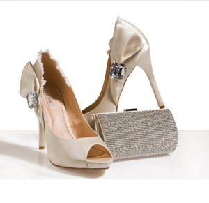 Love heels with rhinestones, $178. Simply Elegant Bridal, 