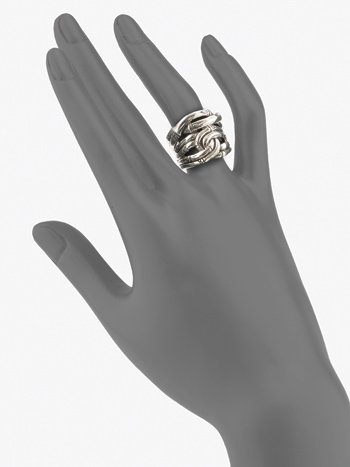 John Hardy sterling-silver bamboo ring