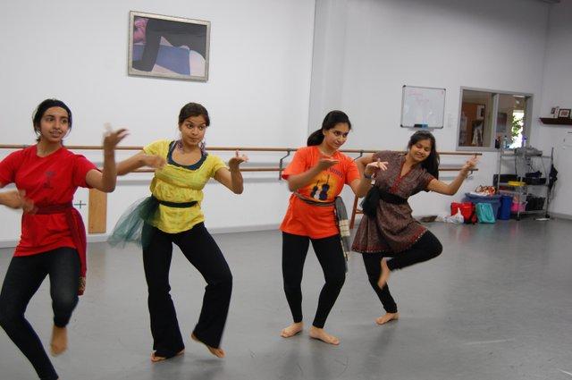 Nisha Rad, Aparna Kalyanaraman, Juhi Nayak, and Mira Patel play the magic grove that follows the heroine.