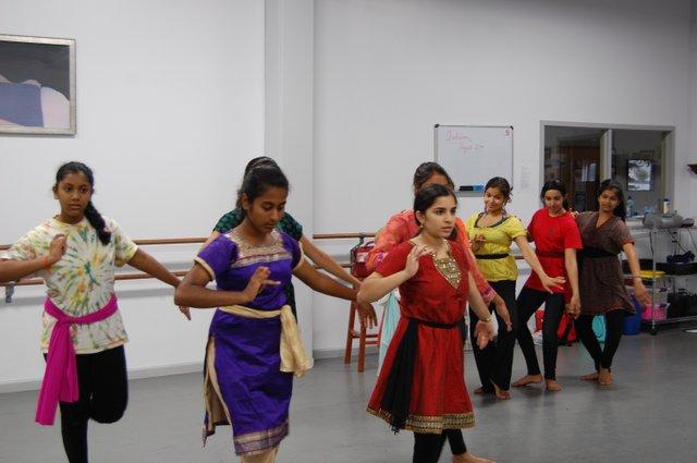 The Ladies in Waiting.From left Sannitha Baragada, Ashleysha Pujari (in back), Anusha Cherupalla, Trishna Limaye, and Kavitha Pathwarchan (in back)