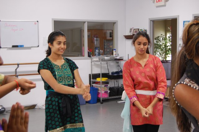 Ladies in waiting Ashleysha Pujari and Kavitha Pathwarchan