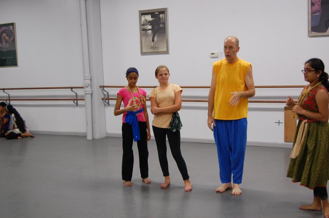 Matthew Traeger, now as the step father dances with the cows, Neesha Deshmukh, Hope Gregory, and Selena Swaminathan