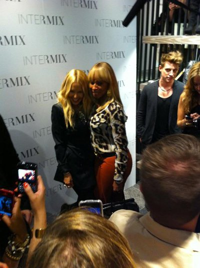 Rachel Zoe & Mary J. Blige at Intermix